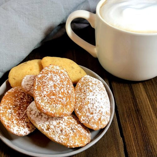 lavender madeleines and a latte