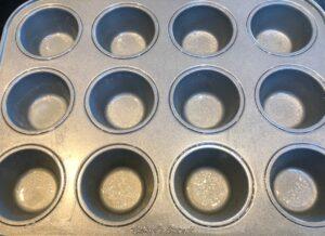 mini cupcake pan with non-stick spray