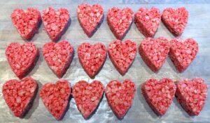 rice krispie hearts