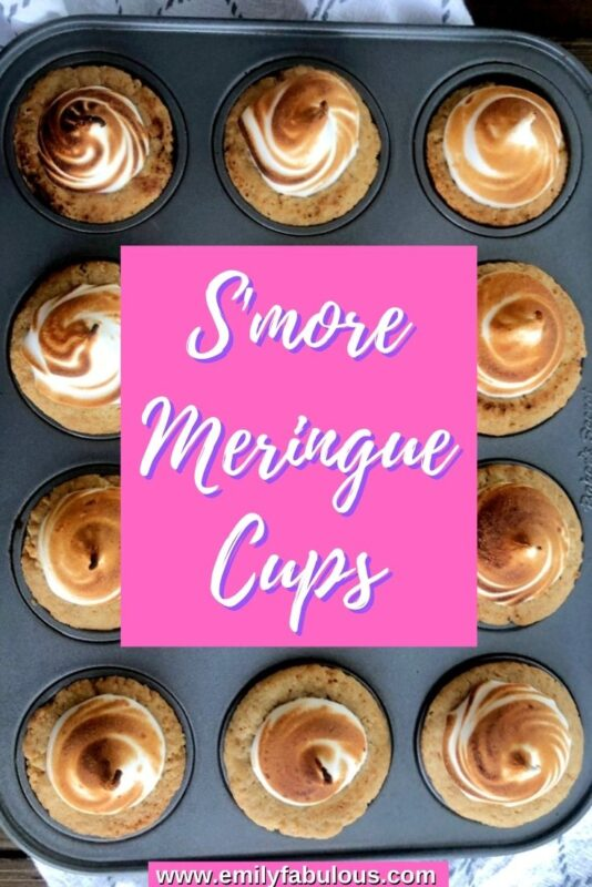 s'more cookie cups in a mini cupcake pan