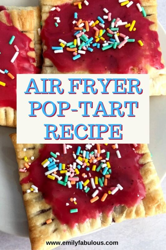 berry pop tarts on a plate with pink frosting and sprinkles on top