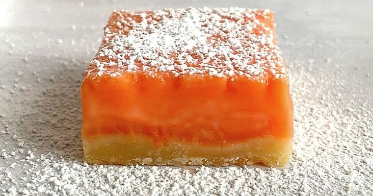 Pink Grapefruit Dessert Bars