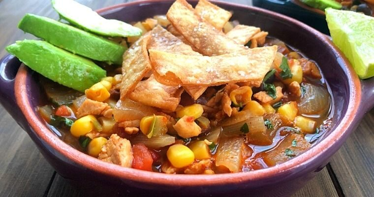 Chunky Chicken Tortilla Soup