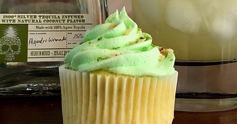 Coconut Lime Margarita Cupcakes