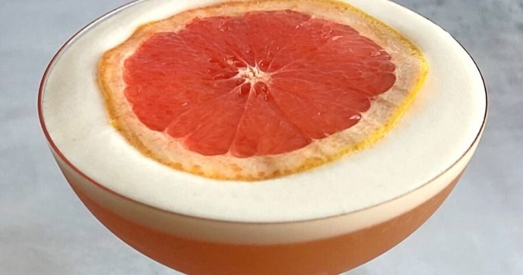 Grapefruit Pisco Sour