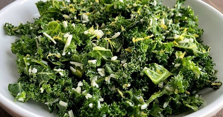 Crunchy Kale Parmesan Salad