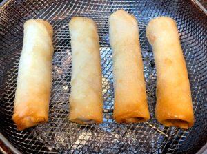 frozen spring rolls in air fryer basket