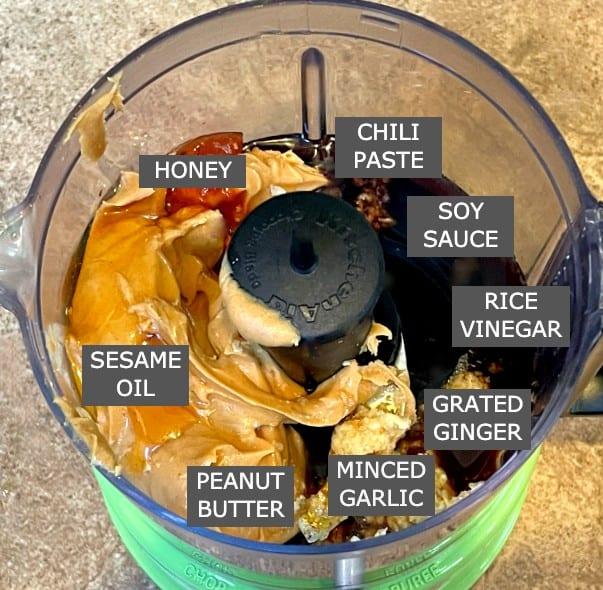 ingredients for peanut sauce