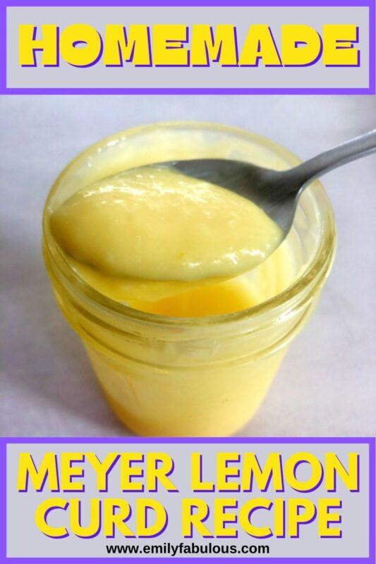 a spoonful of lemon curd in a jar