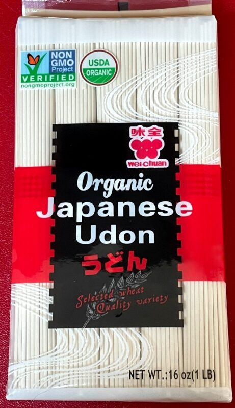 package of dried udon noodles