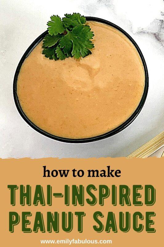 thai peanut dipping sauce in a bowl