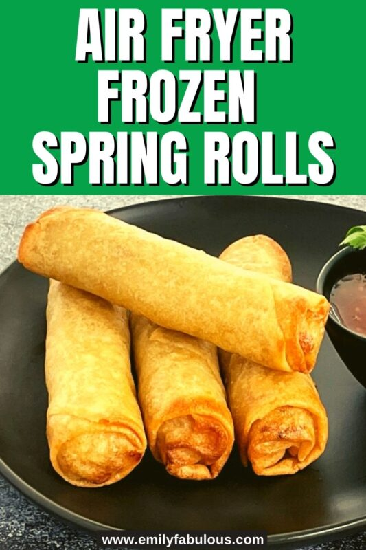 cooked in air fryer spring rolls from frozen