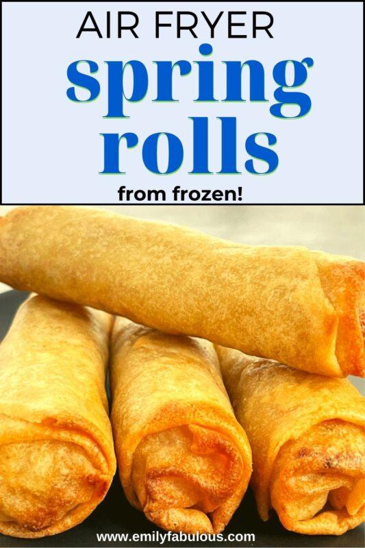 frozen spring rolls in air fryer