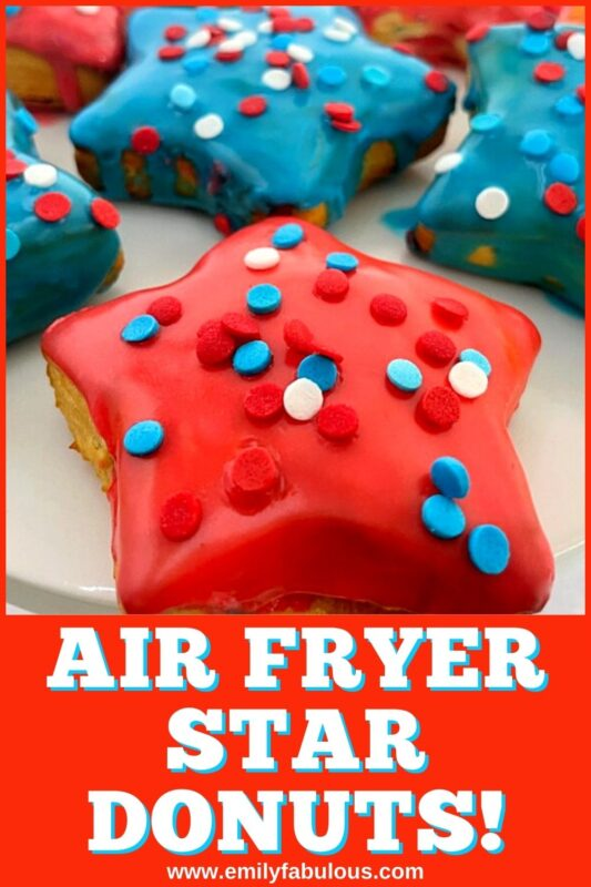 Star shaped donuts made in the air fryer