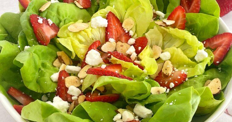 Strawberry Butter Lettuce Salad
