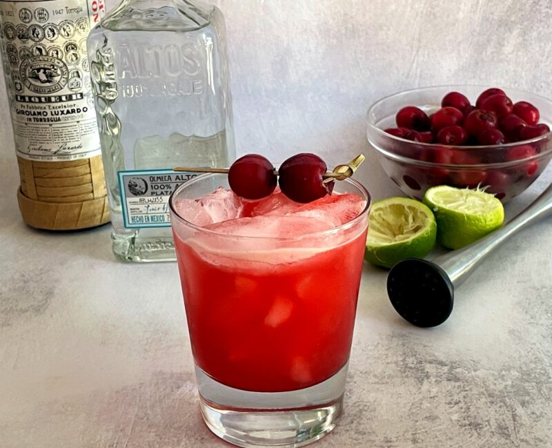 cherry margarita with tequila and maraschino liqueur
