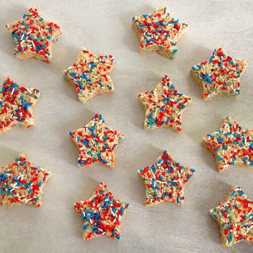 rice krispie treat stars on a table