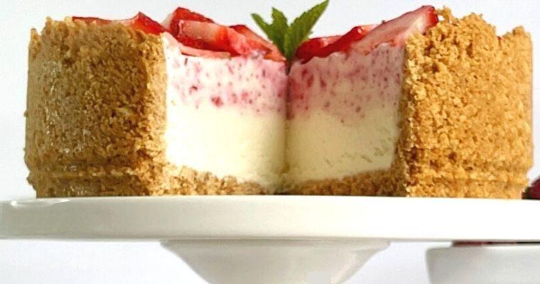 Strawberry Ice Cream Cheesecake
