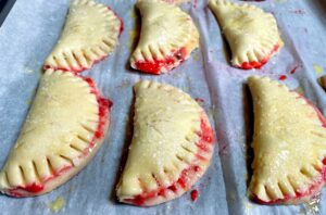strawberry turnovers before baking