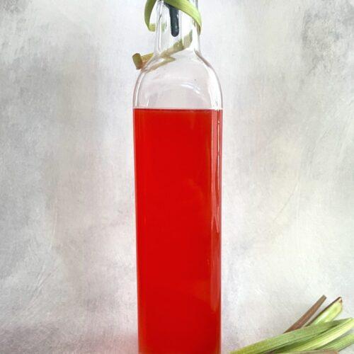 rhubarb syrup with rhubarb