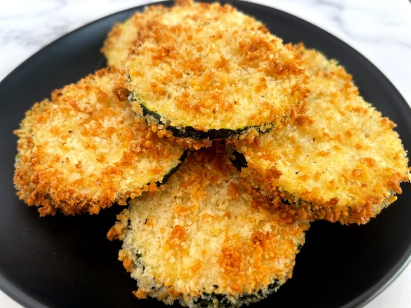 air fried zucchini on a plate