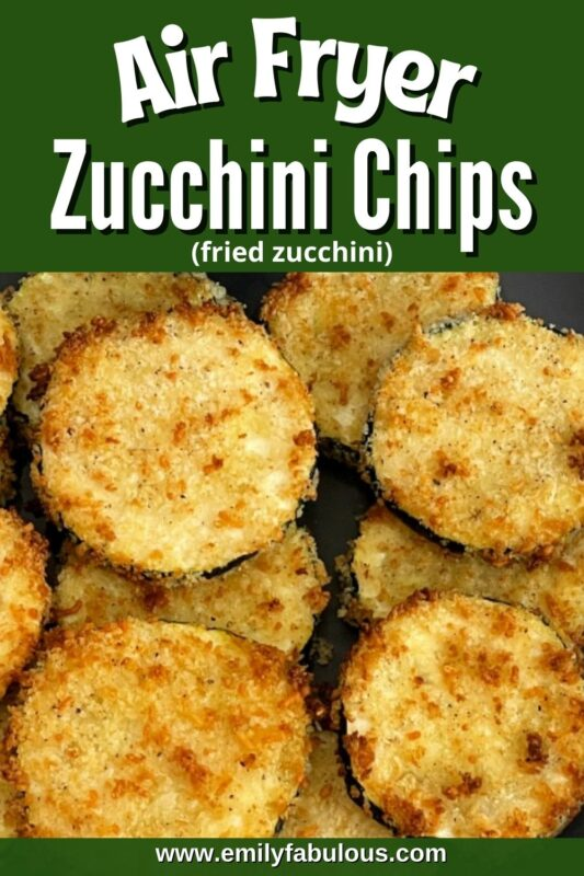 air fried zucchini slices