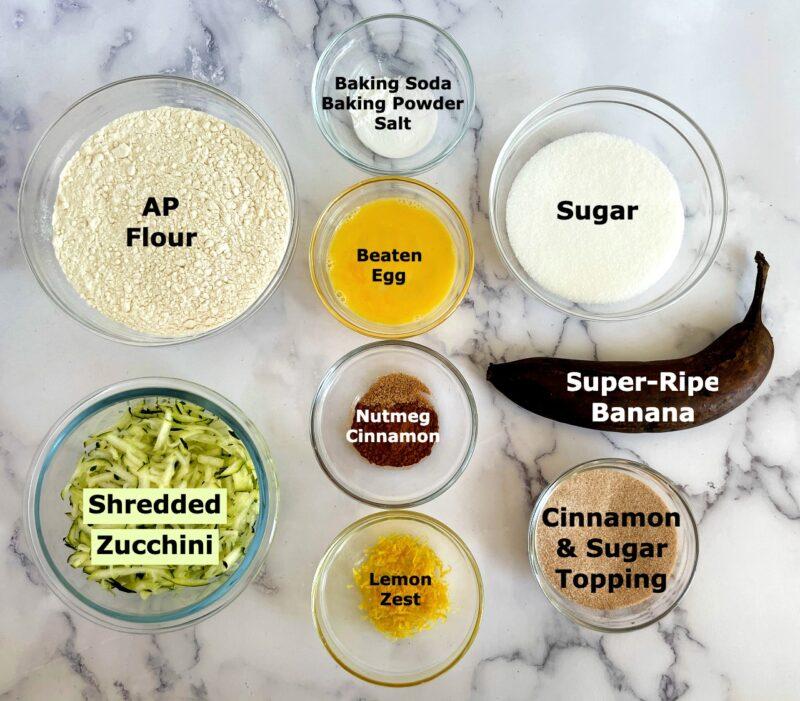 cinnamon zucchini bread ingredients
