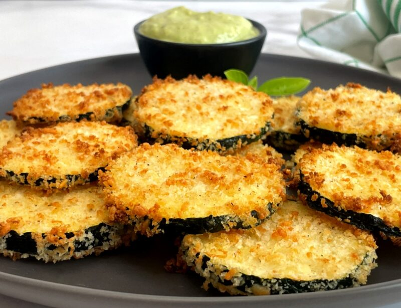 fried zucchini with ranch dipping sauce
