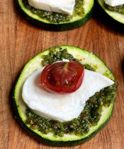 zucchini pesto bite before cooking