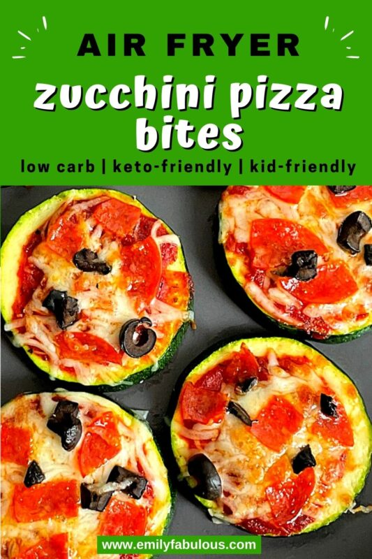zucchini pizza bites with pepperoni and black olives
