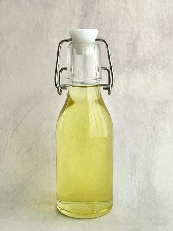 fig leaf syrup in a flip top bottle