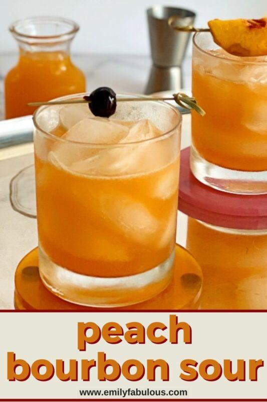 peach bourbon sours