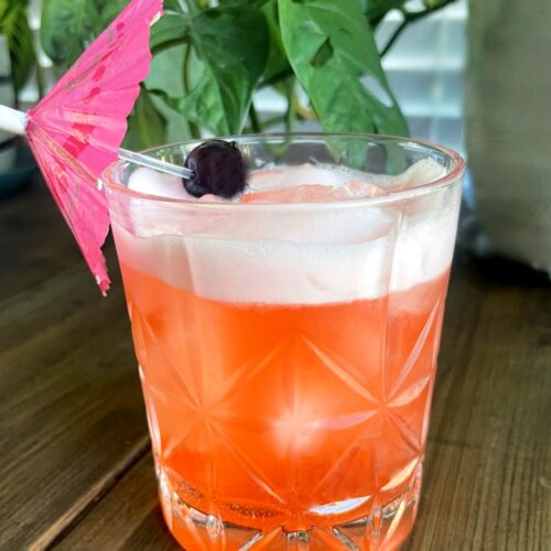 tropical gin orgeat cocktail