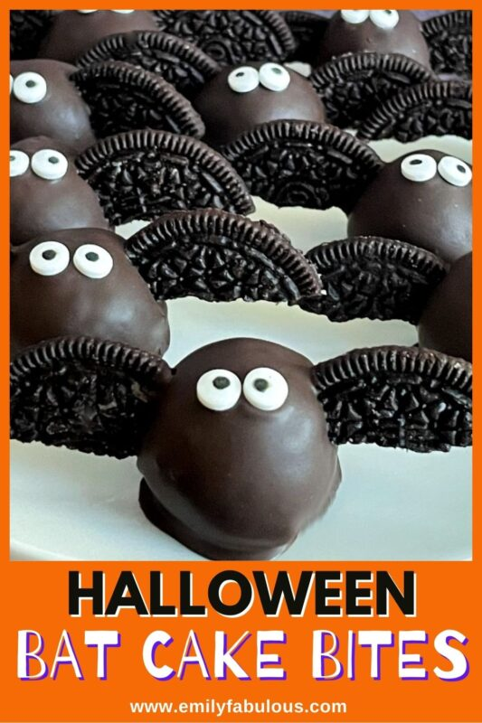 bat cake balls with cookie wings