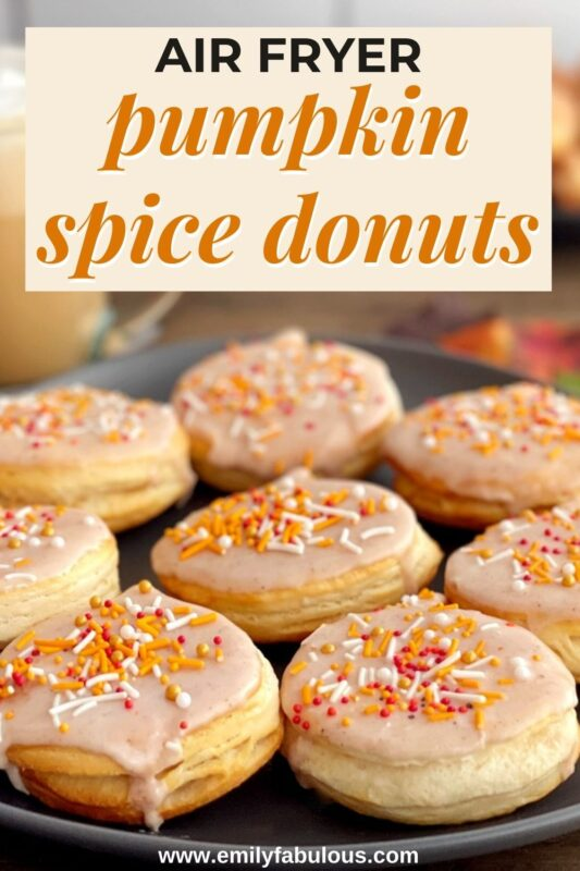 pumpkin spice donuts on a plate